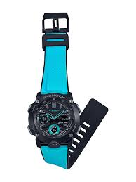 Casio G-Shock GA-2000-1A2  Carbon Core Guard with Blue Resin Strap Men's Watch